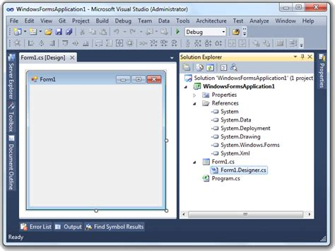 Visual Studio Form Design Disappeared | easily add a ribbon into a winforms application codeproject