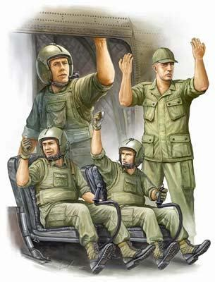 1 35 scale vietnam figures us army ch47 helicopter crew vietnam plastic model
