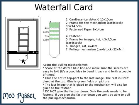 Waterfall Card Template waterfall card cards waterfall cards
