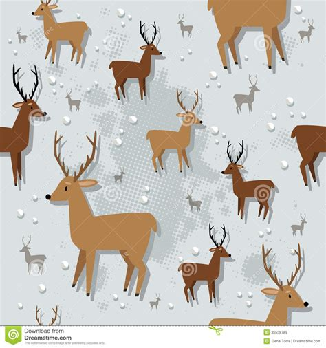 christmas reindeer seamless pattern royalty free stock