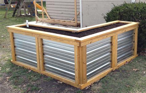 galvanized raised garden bed galvanized raised garden bed how to build a corrugated