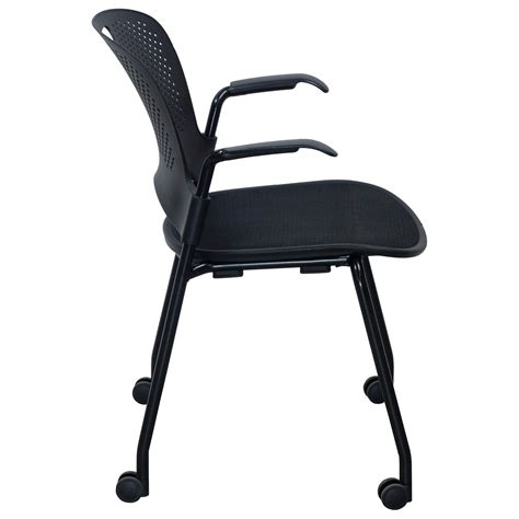 herman miller caper used mobile stack chair black