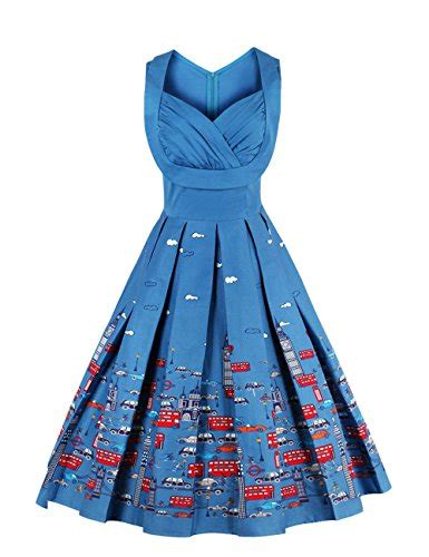 Swing Ballkleid Blau damenmode vkstar in blau