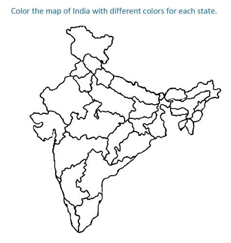 map of us states coloring page map of india for coloring home