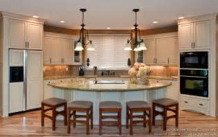 Open Kitchen Design With Island Of Pictures Of Kitchen Countertops