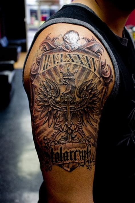 amazing family crest tattoo for men tattoos for men