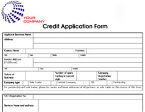 Basic Credit Application Form Template Dexform Collection Of Free Forms Templates