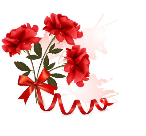 red flower with ribbon design vector vector flower