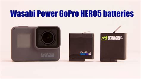 Wasabi Gopro wasabi power gopro hero5 battery kits will now work with all firmware updates