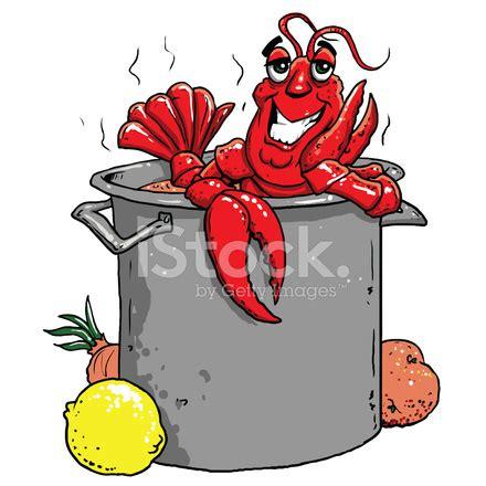 happy crawfish in a big pot stock vector freeimages.com