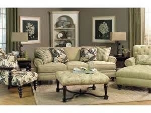 Discontinued Upholstery Fabric Online Paula Deen By Craftmaster Living Room Three Cushion Sofa