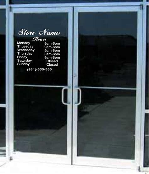 Glass Business Doors Custom Business Store Hours Sign Vinyl Decal Sticker 12 X 14 Window Door Glass
