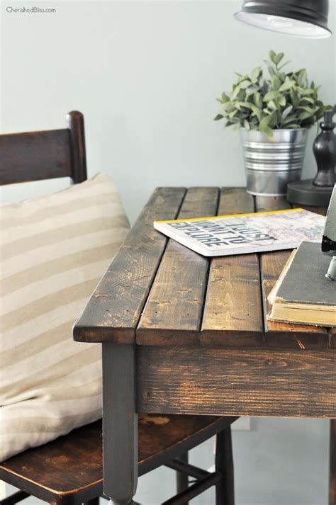 How To Build A Writing Desk by Diy Farmhouse Writing Table Free Plans Cherished Bliss