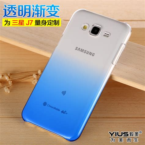 Samsung Galaxy J7 Bepak Clear Transparant Back Cover gradient colourful transparent for samsung galaxy j7 j7008 back cover for