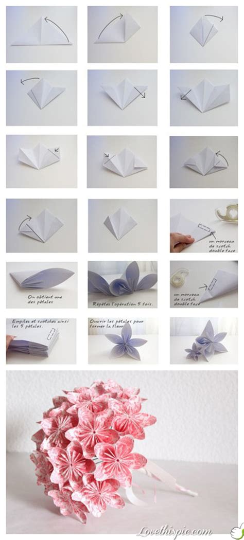 Papercraft Origami Flowers - craft paper flowers pictures photos and images for