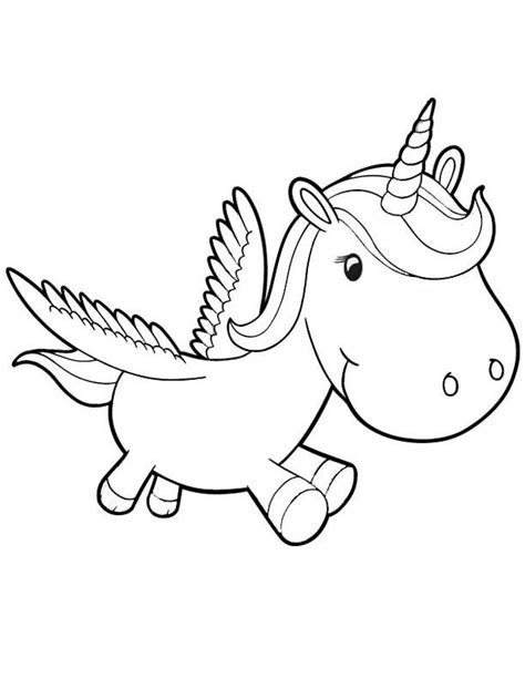 baby unicorn coloring page embroidering pinterest