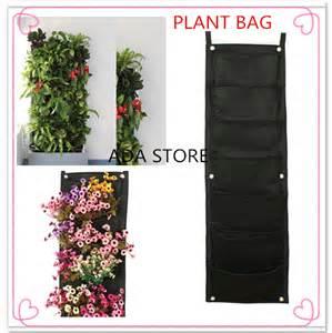 Vertical Garden Pockets Novelty 7 Pockets Vertical Garden Planter Wall Mounted