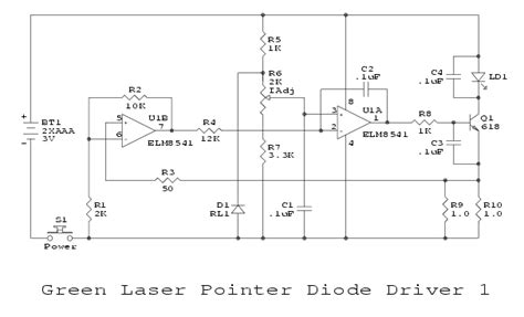 laser diode driver monitor photodiode green laser power supply