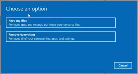 how to choose windows how to reset windows 10 pc to factory settings