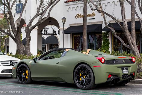 Matte Green Ferrari 458 Italia By Platinum Motorsport