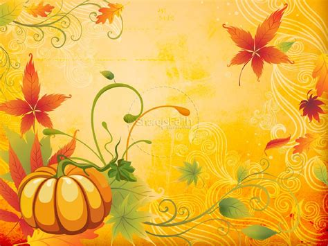 Happy Fall Powerpoint Template Fall Thanksgiving Powerpoints Fall Powerpoint Background