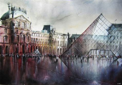 Artistic architectural paintings art design