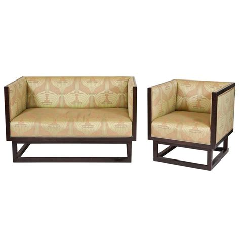 art deco settee art deco settee and bergere for sale at 1stdibs