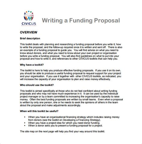 Writing A Funding Template 16 writing templates free sle exle
