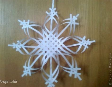 How To Make Paper Snowflake Ornaments - paper snowflake ornament