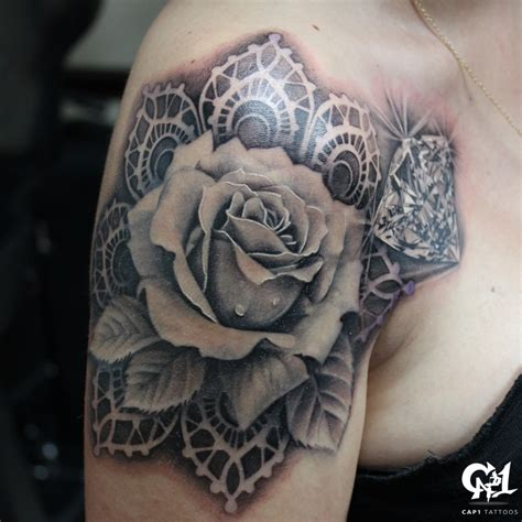 tattoo diamond black and grey dark age tattoo studio tattoos black and gray