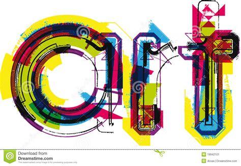 illustrator tutorial word art art stock image image 19942101