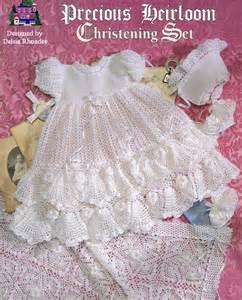 crochet pattern christening gown baby by delsierhoades