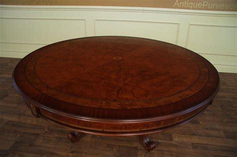 round walnut round dining with mahogany and walnut inaly gold