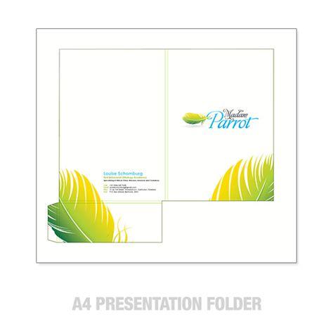A4 Presentation Folders Design And Printing A4 Presentation Folder Template