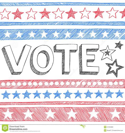 doodle poll usa vote president election sketchy doodles vector stock