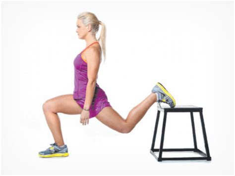 bench lunge bee s exercise of the week is lunges reverse ones