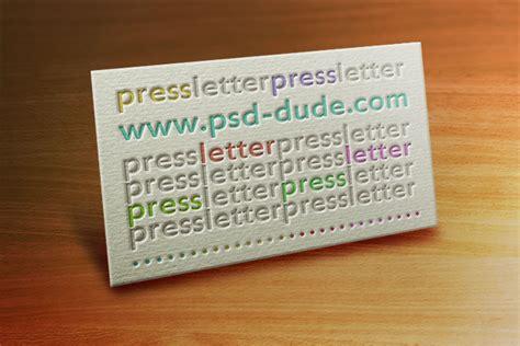 letterpress business card template business card template photoshop tutorials psddude