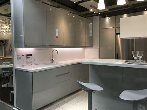ikea ringhult gloss light grey kitchen gr 229