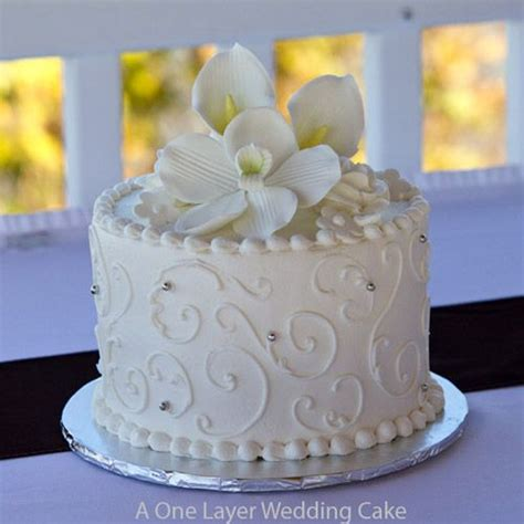 New Single Layer Wedding Cake One Layer Wedding Cake For The Wedding Luncheon Some