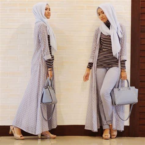 Sweater Lengan Panjang Tipis Stripe Th 001 cardigan memang luaran yang pas agar penilan berhijabmu semakin ciamik intip yuk 11