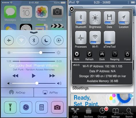 control center themes winterboard how to get ios 7 features now on iphone ipad and ipod touch