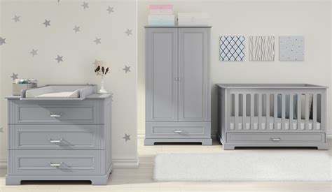 Daisy Stylish Cot Bed Grey Junior Bed With Bottom Drawer Grey Nursery Furniture Set