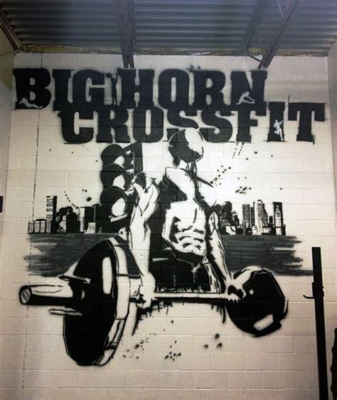 wallpaper for gym walls bighorn crossfit crossfit mural 2013 wall art