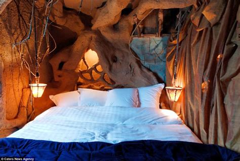 hobbit bedroom belgium s la balad des gnomes hotel has rooms to stay in daily mail