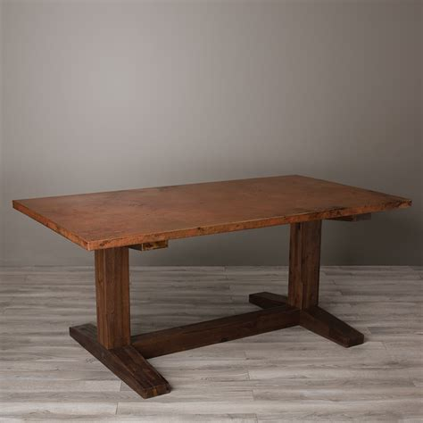 how to clean hammered copper table top copper dining table ideas home ideas collection ideas