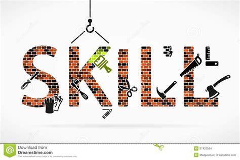 Skill With skill stock vector illustration of bolt masonry design 37423564