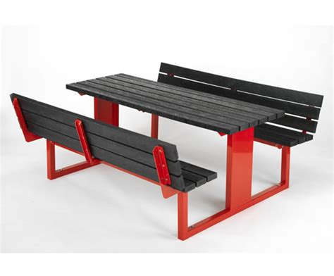 vinyl picnic table forest saver anti vandal recycled plastic picnic table