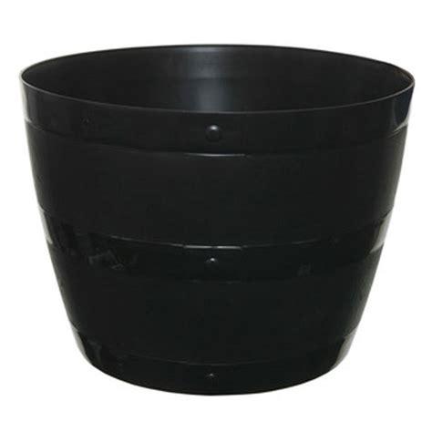 Black Planters Barrel Planter Black Plastic Plant Pot 15 50 L