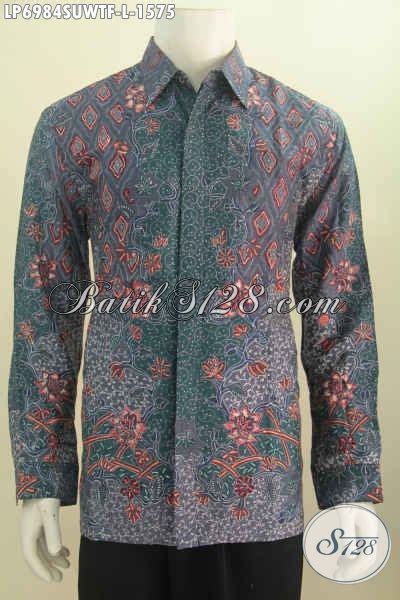 Hem Panjang Size L hem batik furing size l kemeja batik mewah lengan panjang buatan exclusive buat