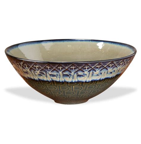 Decorative Bowl by Bouton Decorative Reactive Glaze Ceramic Fruit Bowl 17 Quot D